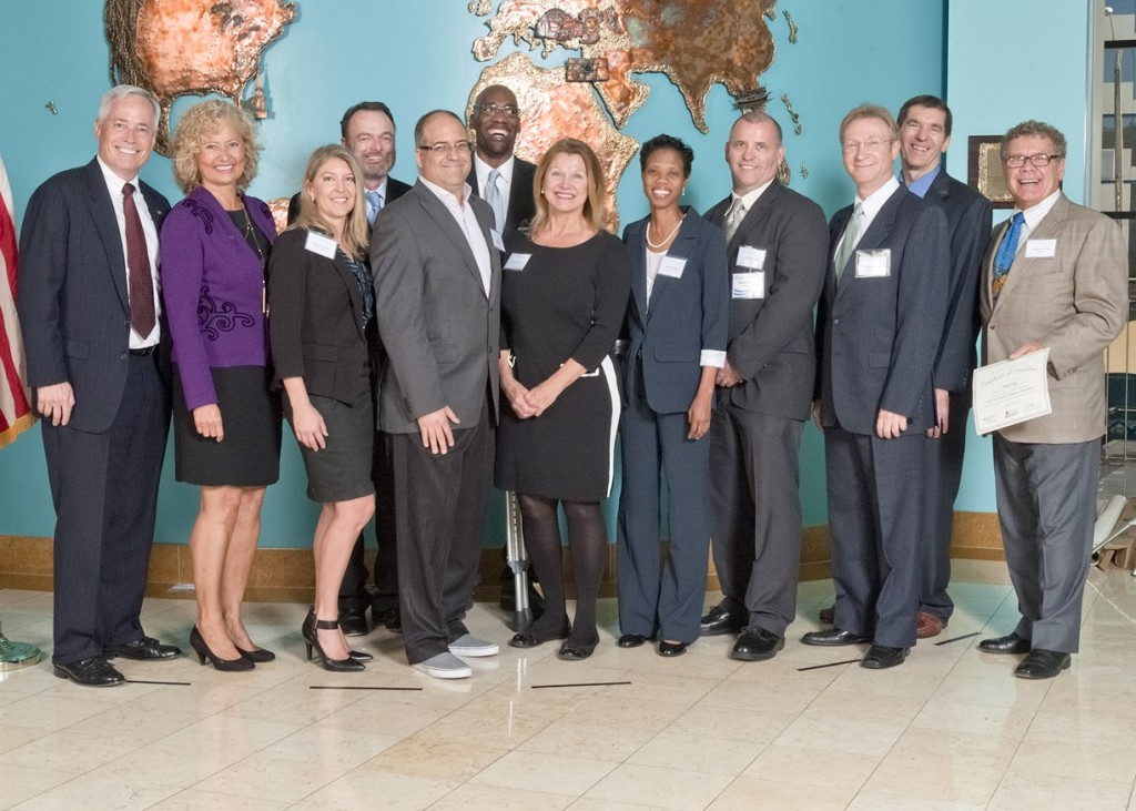 "From left to right: Terence Bentley, Kerstin Holm, Brandy Leighton, Charles McBee, David Talbert, Fitzgerald Budhoo, Patricia ""Pat"" Glass, Desrene Higgins, Brian Alldread, Rony Goldstein, Keith Hoffman, Richard Krigel"