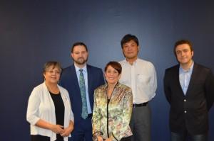 Interim Dean Ranu Jung, Brad Fernald, Susan Racher, Wei-Chiang Lin, and Aydogan Ozcan