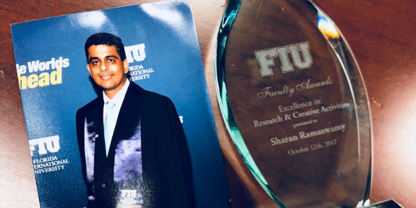 Sharan Ramaswamy Wins University and College-wide Awards for Research