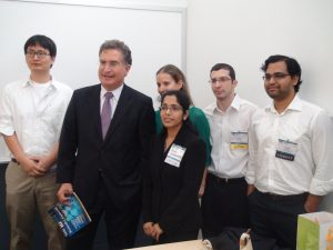 Congressman Joe Garcia with Dr. Godavarty and student group
