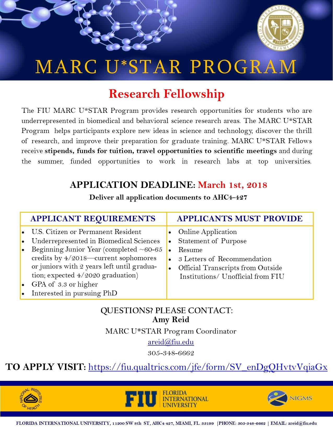 click here for more details click here to learn more about marc ustar application is now closed