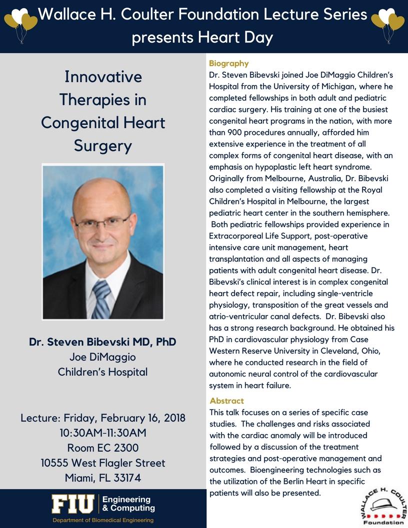 Heart Day Symposium 2018 - FIU Department of Biomedical