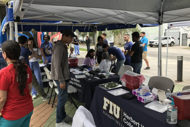 PATHS-UP Students Attend Herbert Wertheim College of Medicine Community Health Fair