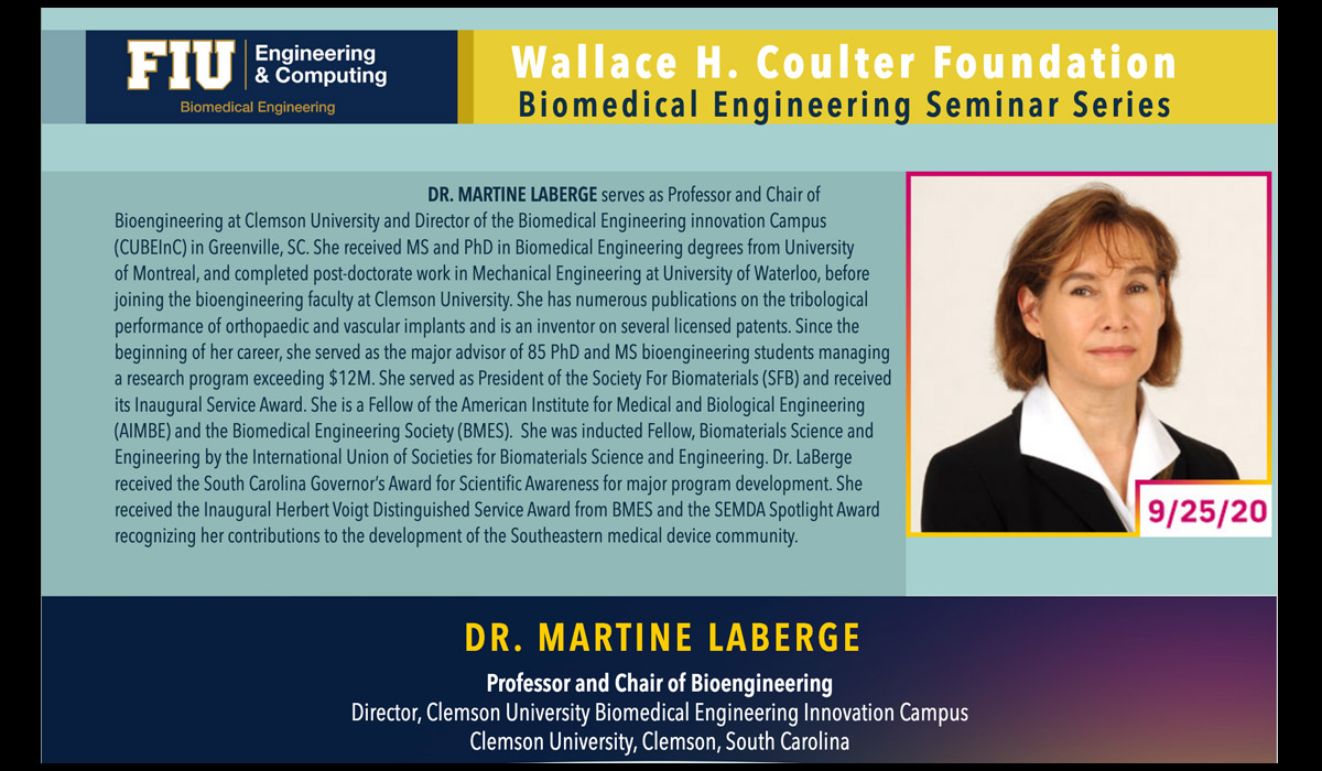 Dr. Martine LaBerge   Building A Skillset For Successful BME Research Career