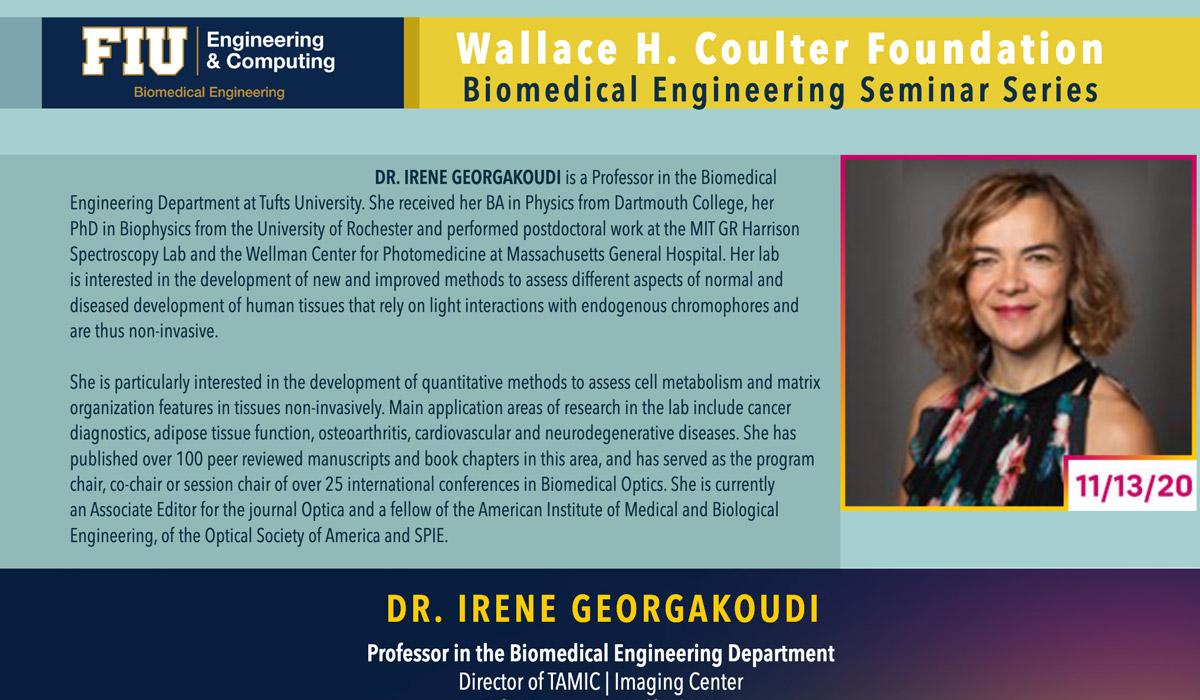 Dr. Irene Georgakoudi | Morphofunctional Tissue Assessments Through Label-Free, High-Resolution Imaging