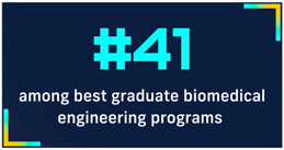 Number 41 among best graduate biomedical engineering programs