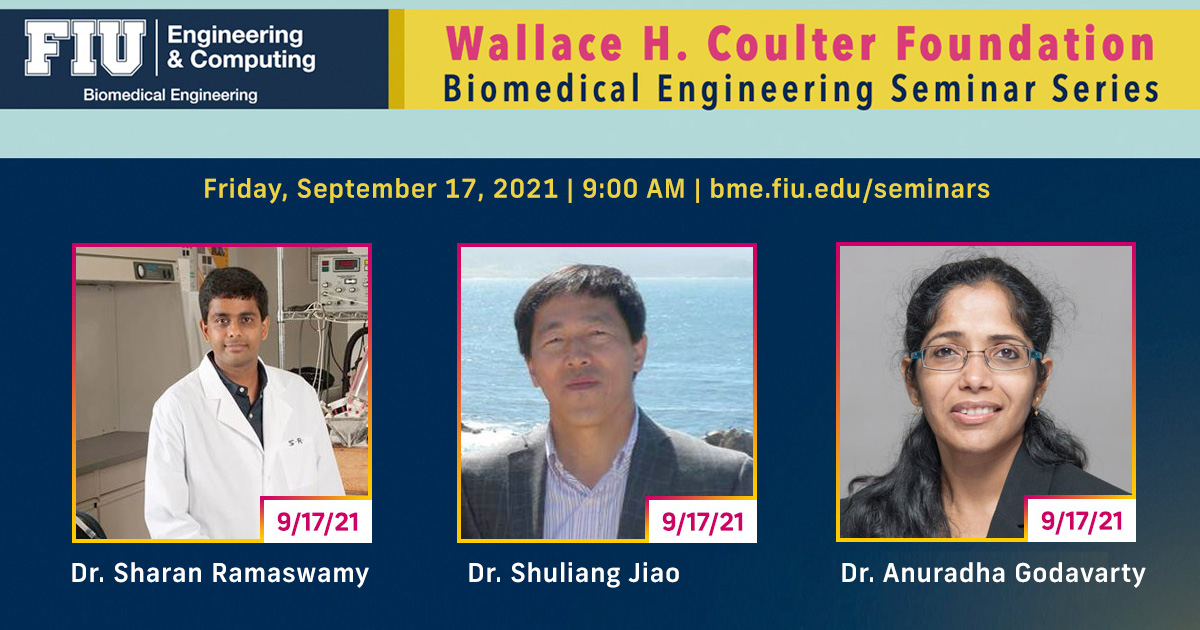 Dr. Sharan Ramaswamy | Dr. Shuliang Jiao | Dr. Anuradha Godavarty